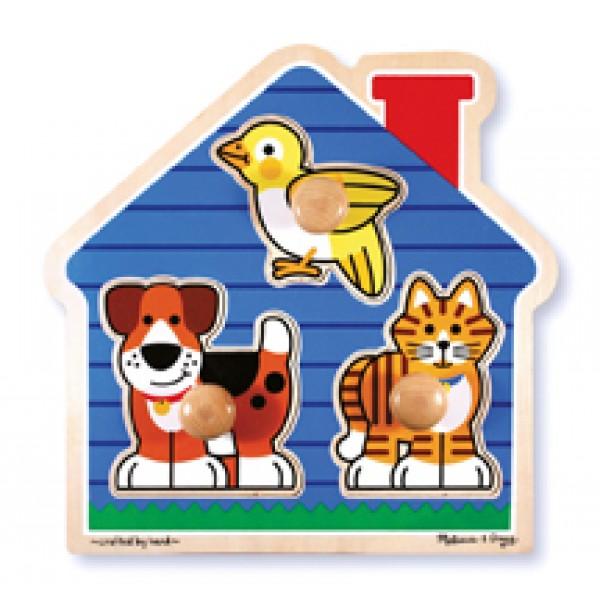 3pc House Pets Knob Puzzle