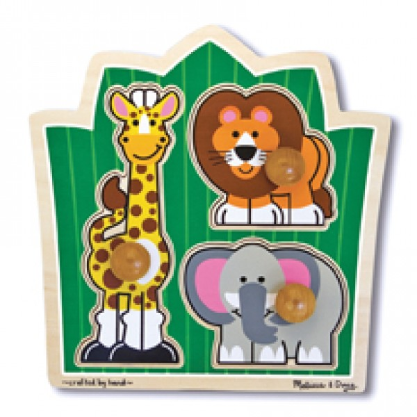 3pc Jungle Knob Puzzle Large