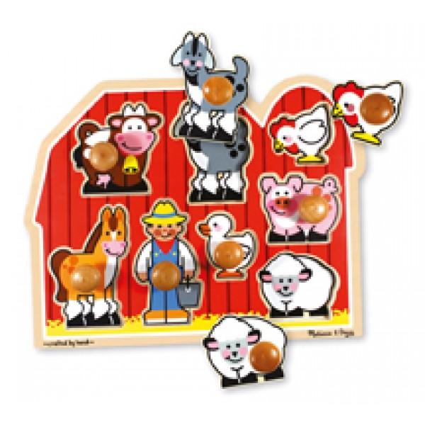 Farm Large - Jumbo Knob Puzzle