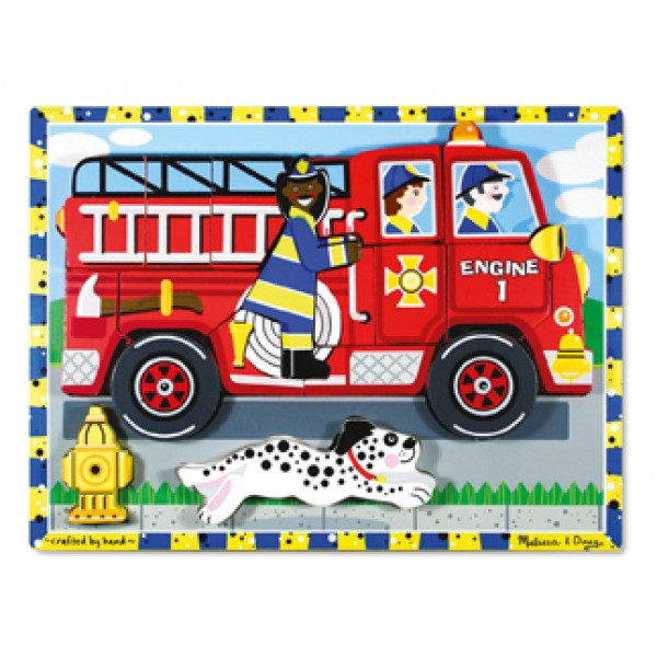 Fire Truck Chunky - Wooden Puzzle