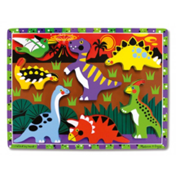 Dinosaur Chunky - Wooden Puzzle