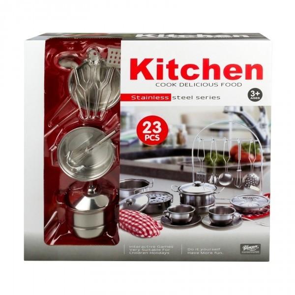 23pc Kitchen Set Real Steel
