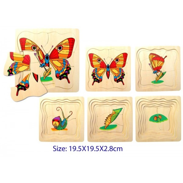 5 Layers Butterfly Puzzle