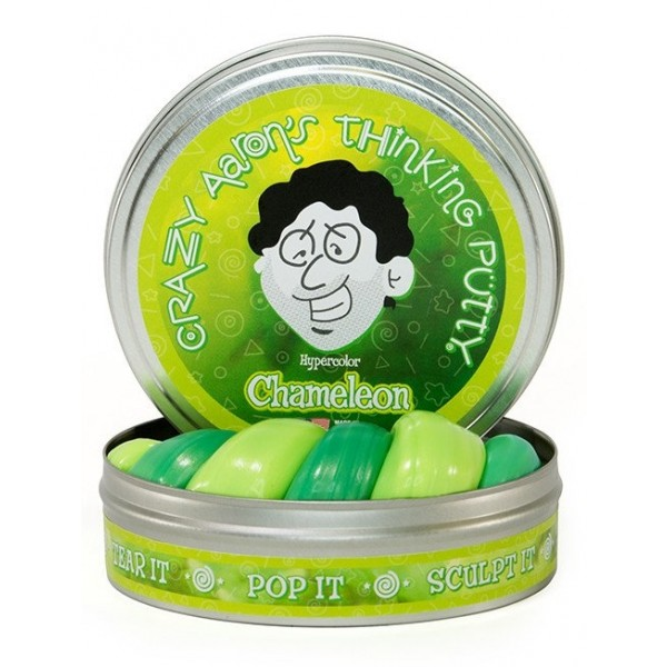 Chameleon Heat Sensitive Hypercolor 4inch Tin - Thinking Putty
