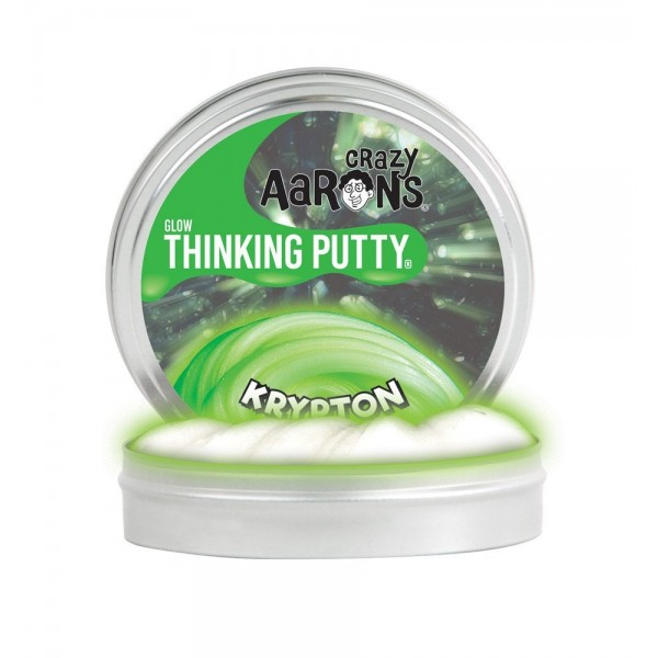 Krypton Glow in the Dark 4inch Tin - Thinking Putty