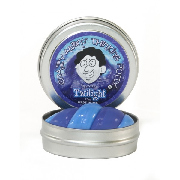 Twilight Heat Sensitive Hypercolor 2inch Tin - Thinking Putty