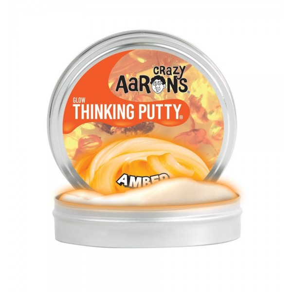 Amber Glow in the Dark 2inch Tin - Thinking Putty