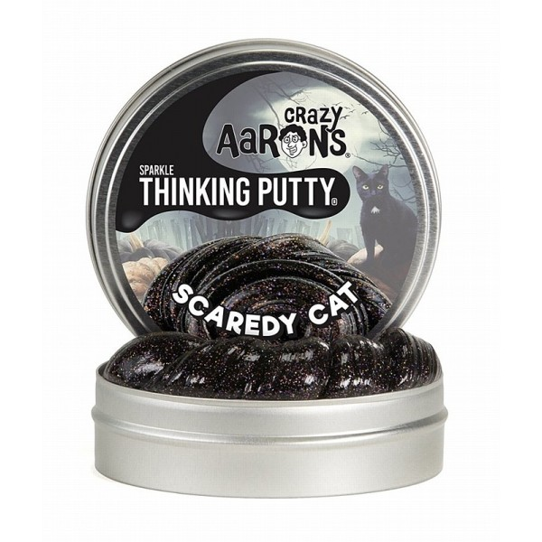 Scaredy Cat Sparkle 4inch Tin Holiday Theme - Thinking Putty