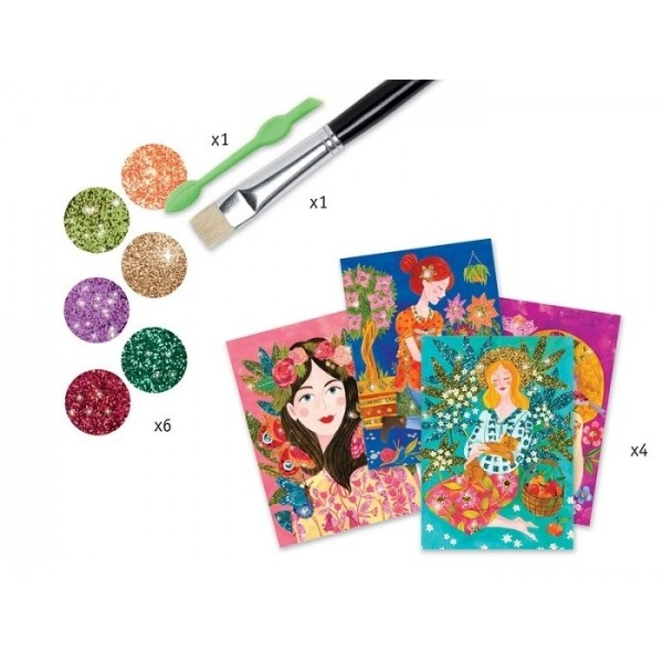 Scent of Flowers Glitter Boards