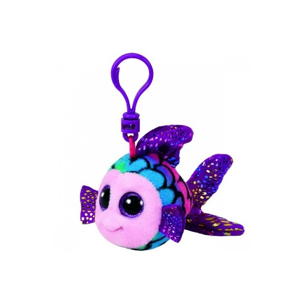 Flippy Multicolour Fish - Clip On Beanie Boos