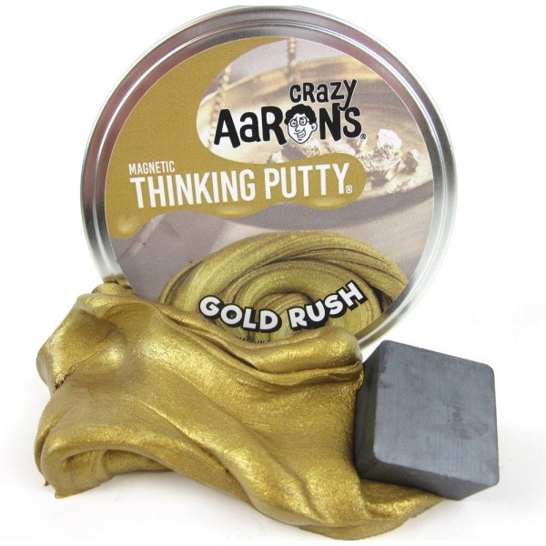 """Gold Rush Magnetic - 4"""" Thinking Putty"""