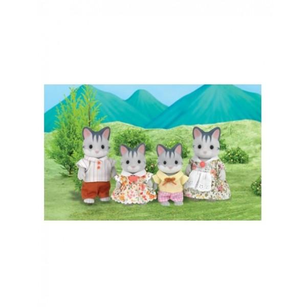 Gray Cat Family - Sylvanian Families