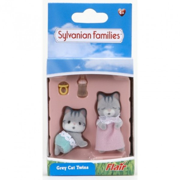 Gray Cat Twins - Sylvanian Families