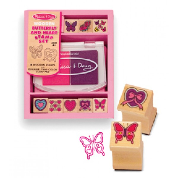 Butterfly & Heart Stamp Set - Melissa & Doug