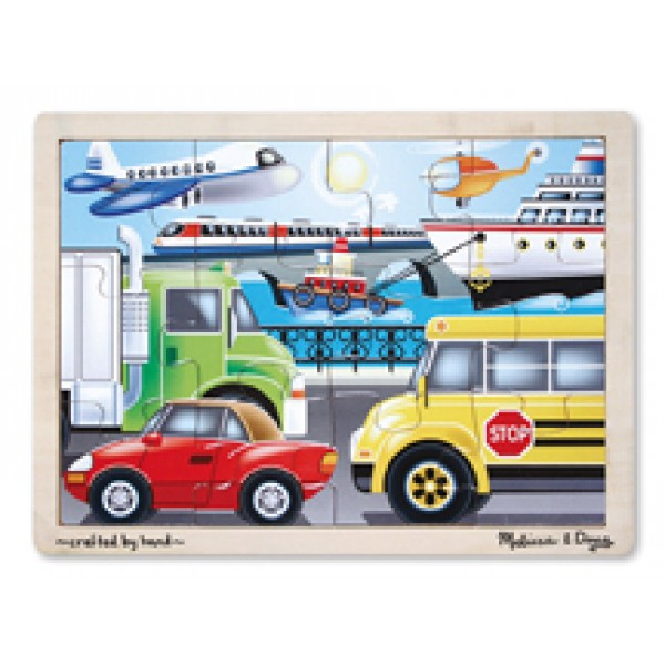 On the Go Vehicles - Wooden Puzzle