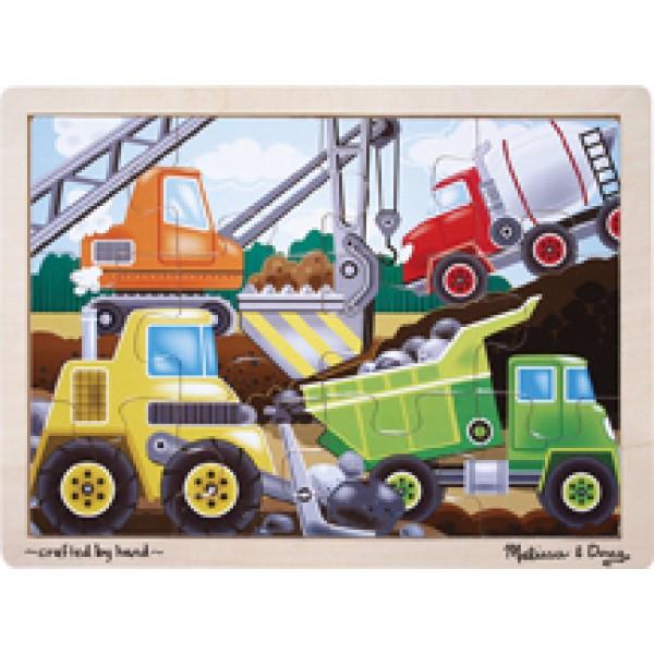 Construction Site - Wooden Puzzle