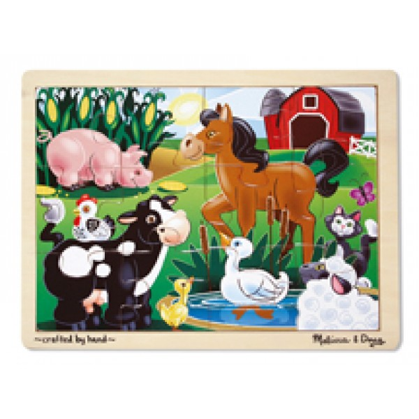 On the Farm - Wooden Puzzle