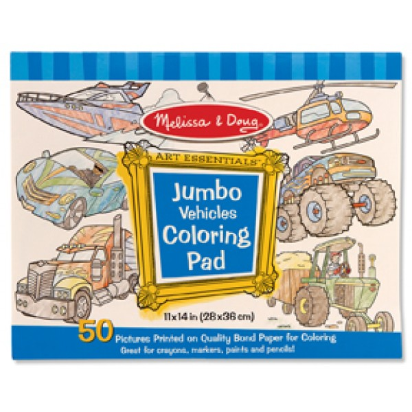 Vehicles Jumbo Colouring Pad