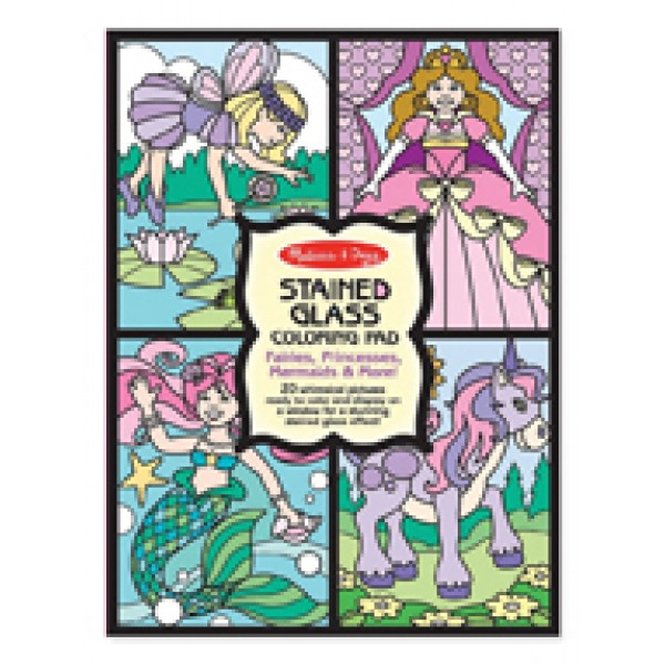 Fairies - Stained Glass Colouring Pad