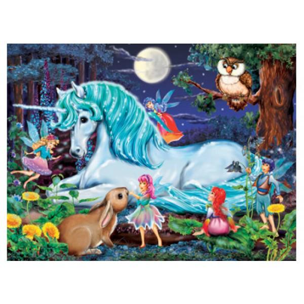 100pc Unicorns World Puzzle