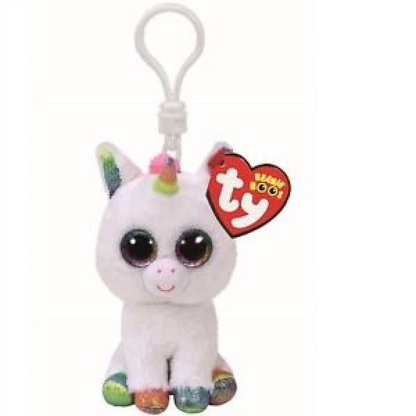Pixy White Unicorn - Clip Ons Beanie Boos