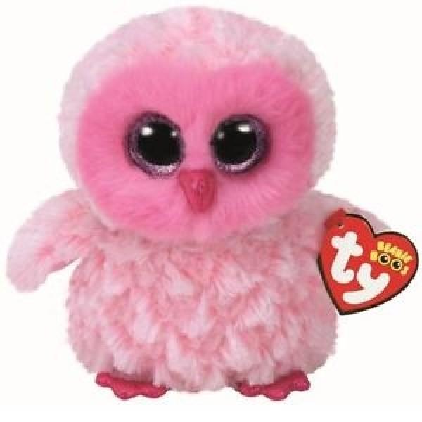 Twiggy Pink Owl - Clip Ons Beanie Boos