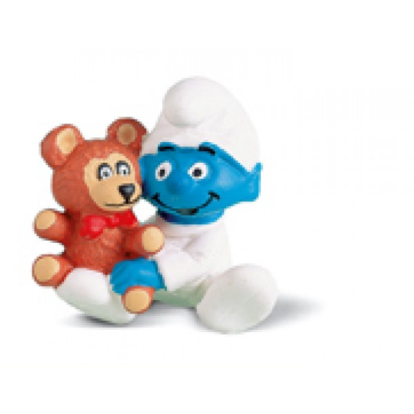 Smurf Baby With Teddy - Schleich