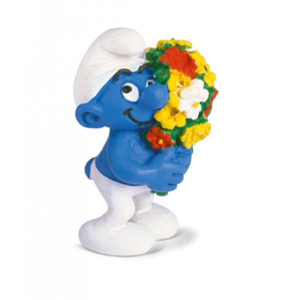 Smurf With Flowers - Schleich