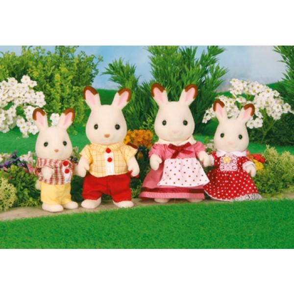 Chocolate Rabbit Family - Sylvanian Families