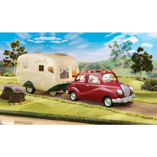 Family Saloon Car and Caravan - Sylvanian Families
