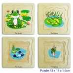 4 Layers Frog Puzzle