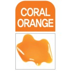 Glass Deco Coral Orange 60ml bottle