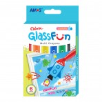 6pk Glass Fun Multi Crayons