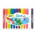 12pk Glass Fun Multi Crayons