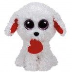 Honey Bun White Dog w/ Heart - Beanie Boo