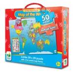 Map of the World - Jumbo Floor Puzzle