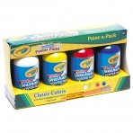 Poster Paint 4 x 250ml plus Brush - Crayola