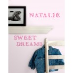 Letters (Pink) - Wall Stickers
