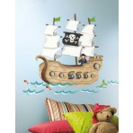 Pirate Ship Mega Wall Stickers