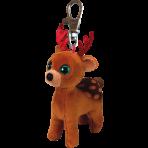 Tinsel Brown Xmas Reindeer - Clip Ons Beanie Boos